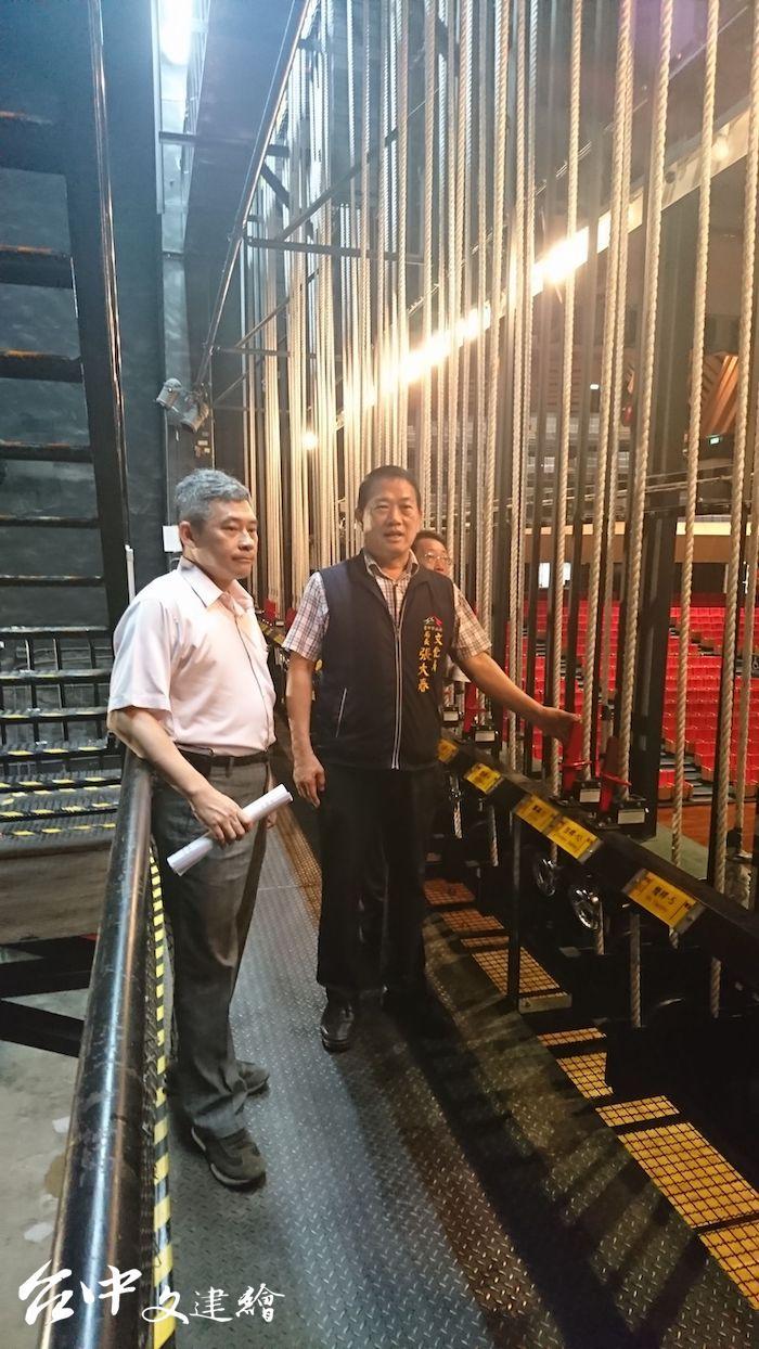 台中中山堂懸吊系統將手動改為電腦桿。(圖:台中市文化局)