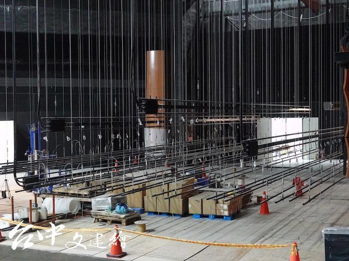 中山堂更換自動化控制懸吊系統(圖:台中市文化局)