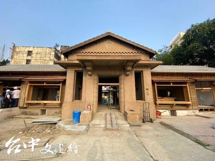 台中歷史建築「烏日警察官吏派出所」即將修復完工。(圖:台中市文化局)