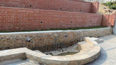 台中市定古蹟「聚奎居」(烏日)日治時代的洗衣窟重見天日。(圖:台中市文化局)