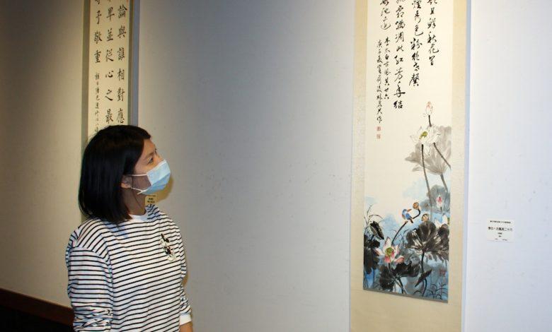 台中市書法協會「傳承創新・水墨交響特展」於港區藝術中心展出。(圖:台中港區藝術中心)