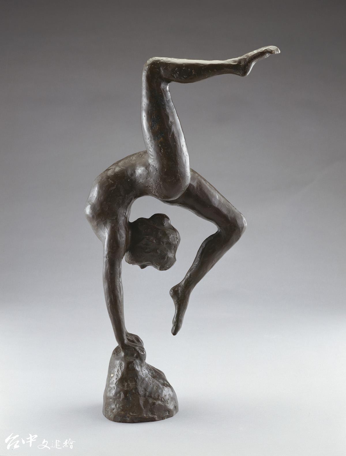 蒲添生,「運動系列」之四,青銅,54X28X43cm,1988。(圖:國美館)