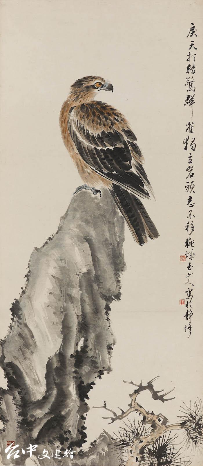 林玉山,〈英風颯爽〉,1951,水墨(圖:國立臺灣美術館)