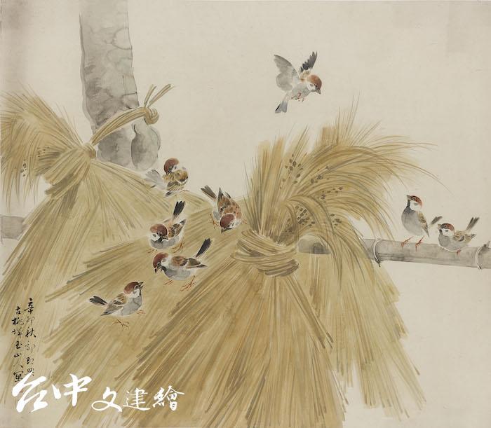 林玉山,〈農村秋情〉,1951,水墨(圖:國立臺灣美術館)