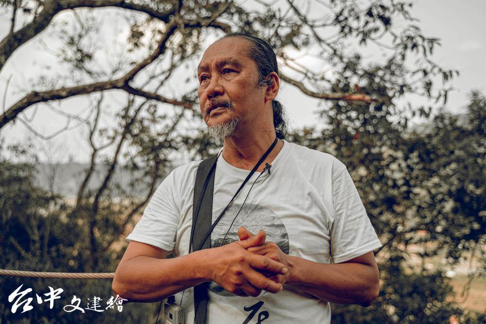 第9 屆「台中文學獎」文學貢獻講得主瓦歷斯・諾幹。(圖:台中市文化局/攝影:李承憲,《文訊》雜誌社提供)
