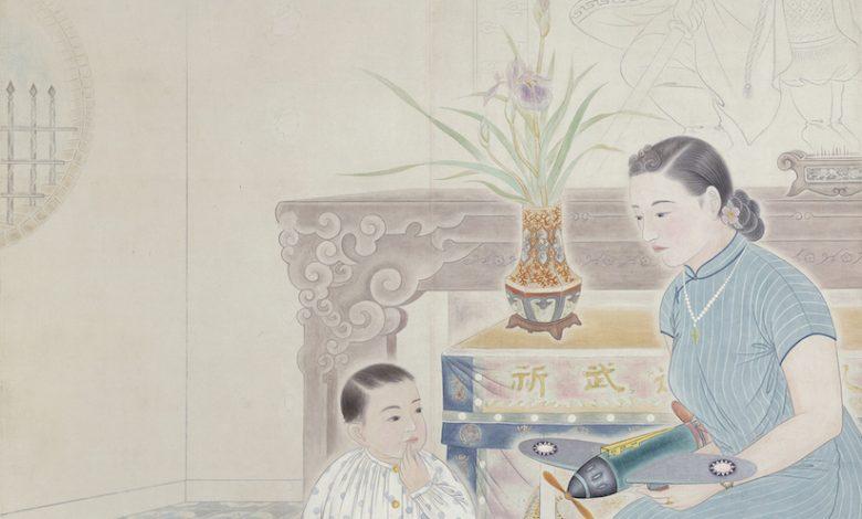 蔡雲巖,〈我的日子 (男孩節)〉,1943,膠彩、紙本,173.7 x 142 cm,國立台灣美術館典藏(圖:國美館)