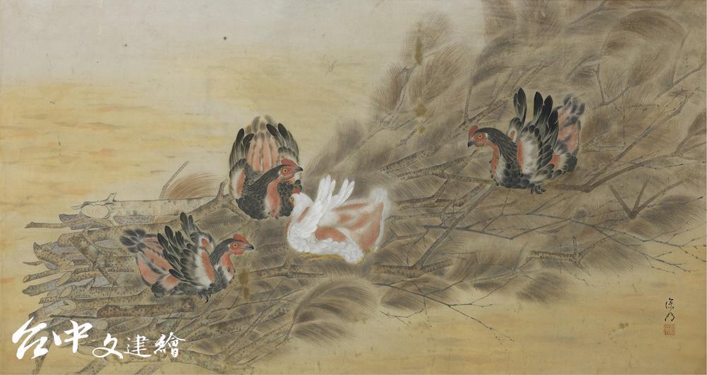 許深州,〈閑日〉,1942,膠彩、絹本,75×135 cm,國立台灣美術館典藏(圖:國美館)