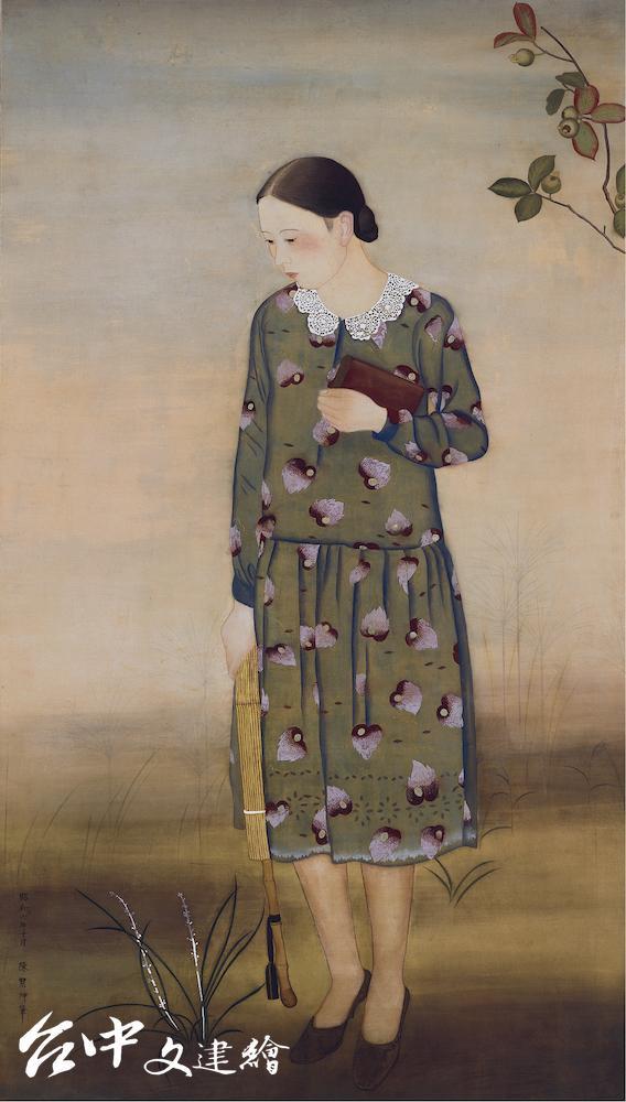 陳慧坤,〈無題〉,1932,膠彩、絹本,141×80 cm,台北市立美術館典藏(圖:國美館)