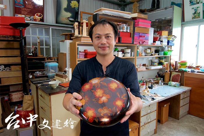 漆藝工藝師陳永興。(圖:台中市文化局)