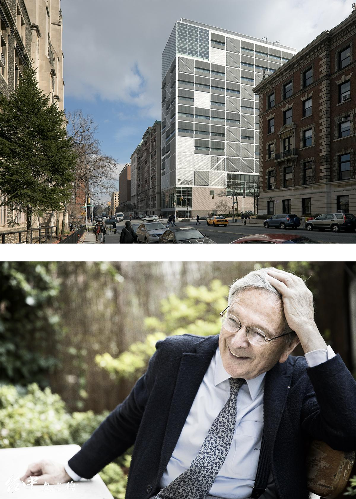 第十七屆威尼斯建築雙年展將終生成就獎頒予西班牙建築師 Rafael Moneo(攝影:Germán Saiz),作品為哥倫比亞大學西北角大樓 (攝影:DUCCIO MALAGAMBA)。