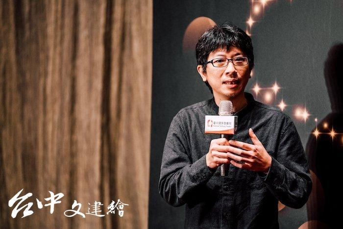 2019年台中歌劇院曲牆光影秀的視覺設計由徐逸君操刀。(圖:台中歌劇院)