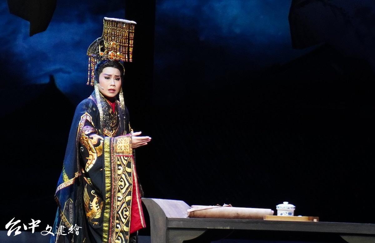 當家小生江亭瑩飾演漢王(圖:台中文建繪)