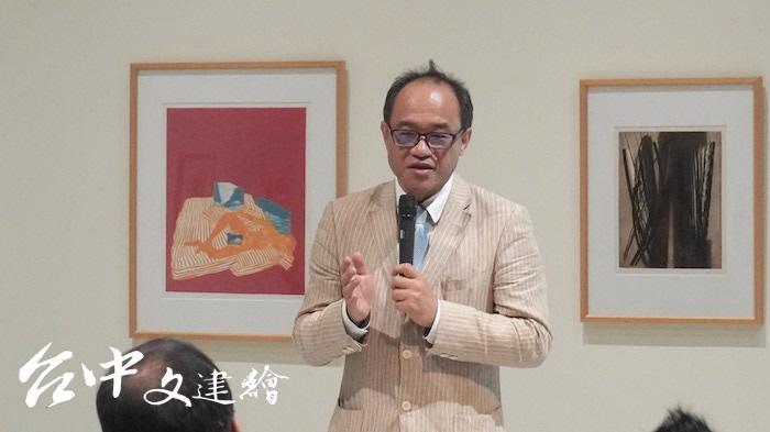 國立台灣美術館館長林志明(攝影:謝平平)