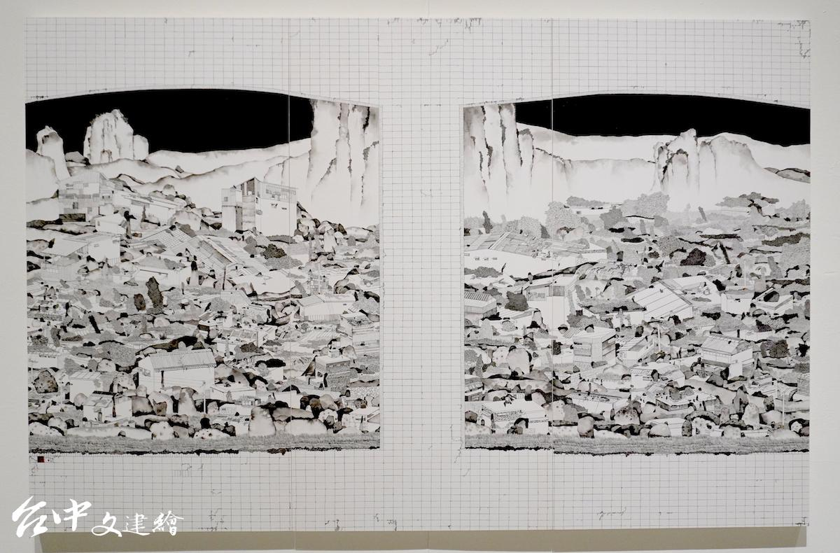 110 全國美展,水墨類金牌,邱奕寧,看不見的山頭。(圖:台中文建繪)