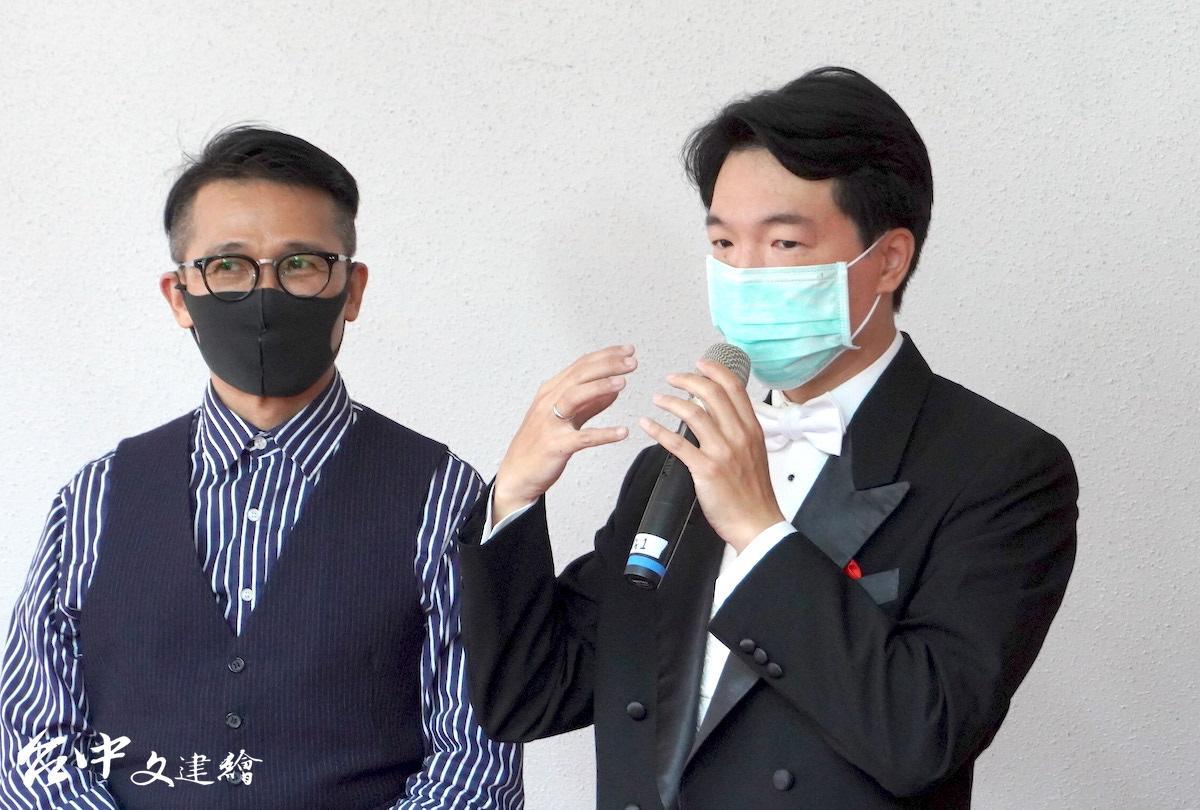 廖國敏(右)近期與國台交合作五場演出,場場精彩。(圖:台中文建繪)