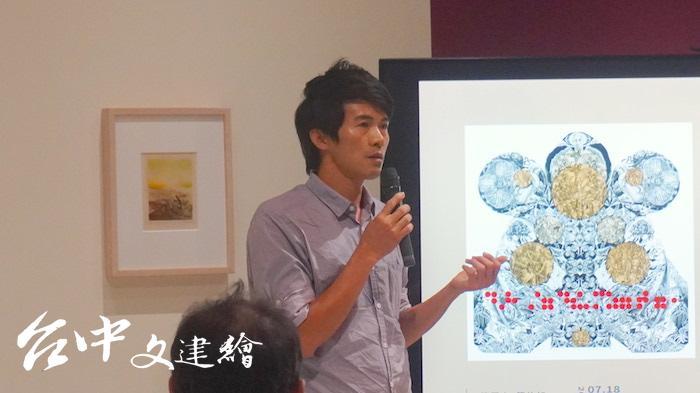 參展藝術家林仁信(攝影:謝平平)