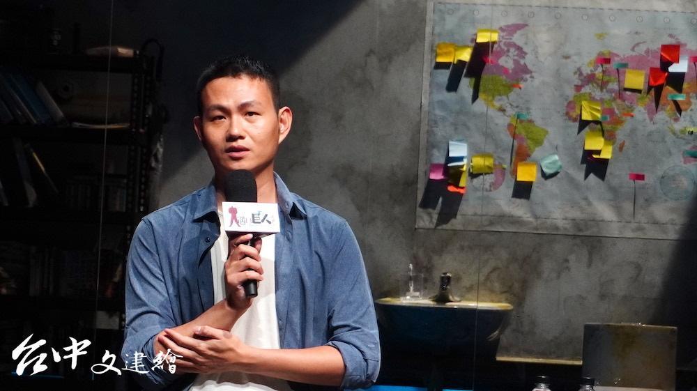 動見体核心藝術家王靖惇這次擔任「如此美好」導演兼編劇。(攝影:謝平平)