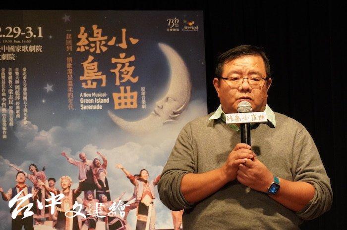 果陀劇場團長梁志民致力推動台灣原創音樂劇,被稱為音樂劇教父。(攝影:謝平平)