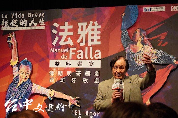 台灣歌劇教父曾道雄。(攝影:謝平平)