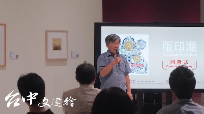 參展藝術家楊明迭(攝影:謝平平)