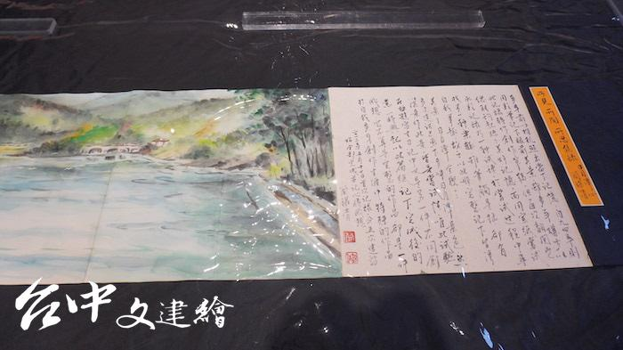 簡錦清水彩速寫與寫生日記。(攝影:謝平平)