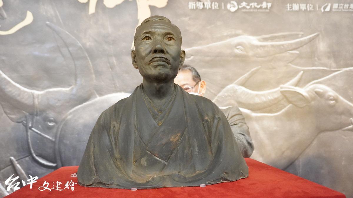 黃土水作品〈山本悌二郎〉胸像,1927。(圖:台中文建繪)