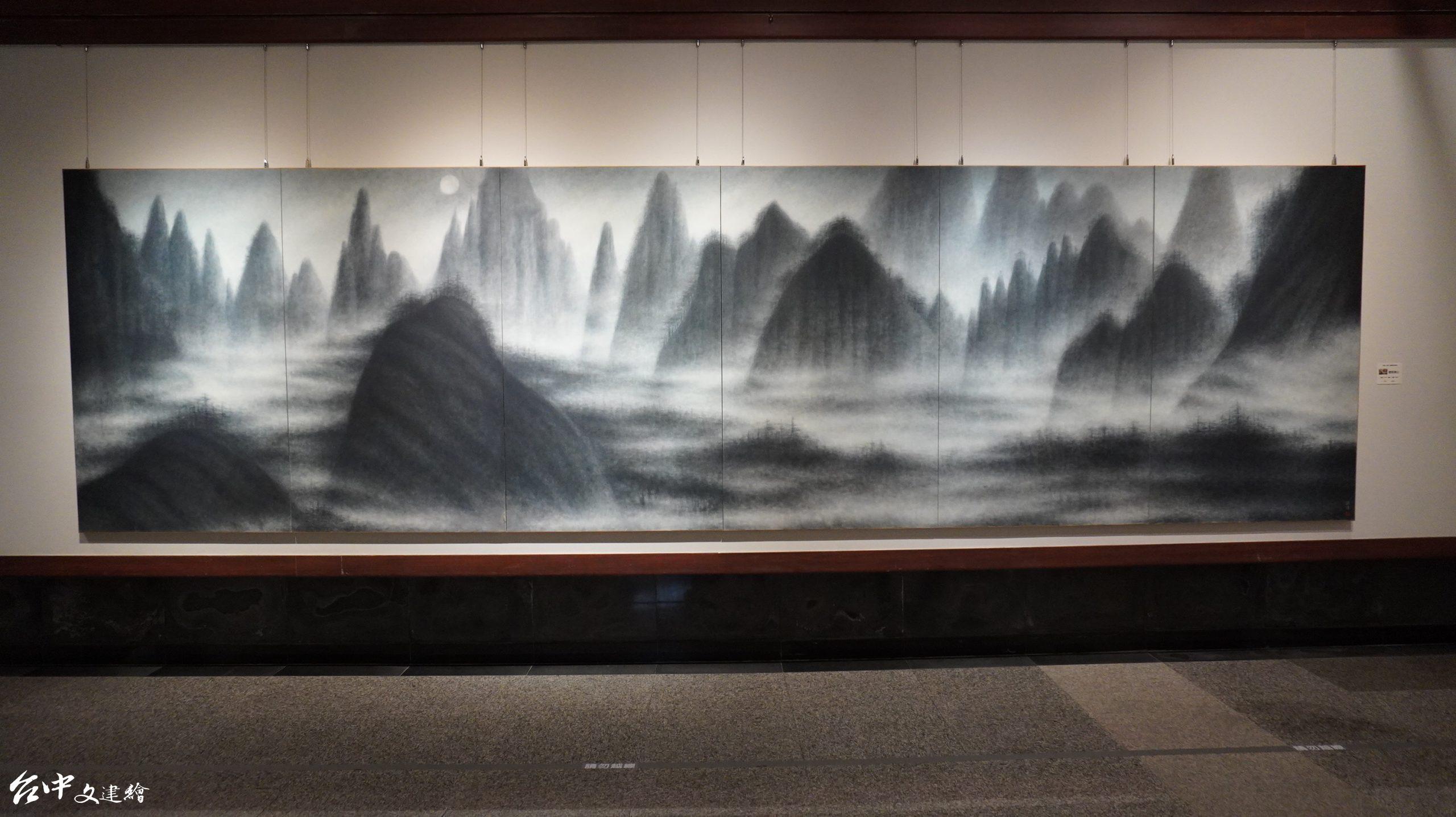 簡錦清,靈氣黃山,100號 x6 ,2010 年。(攝影:謝平平)