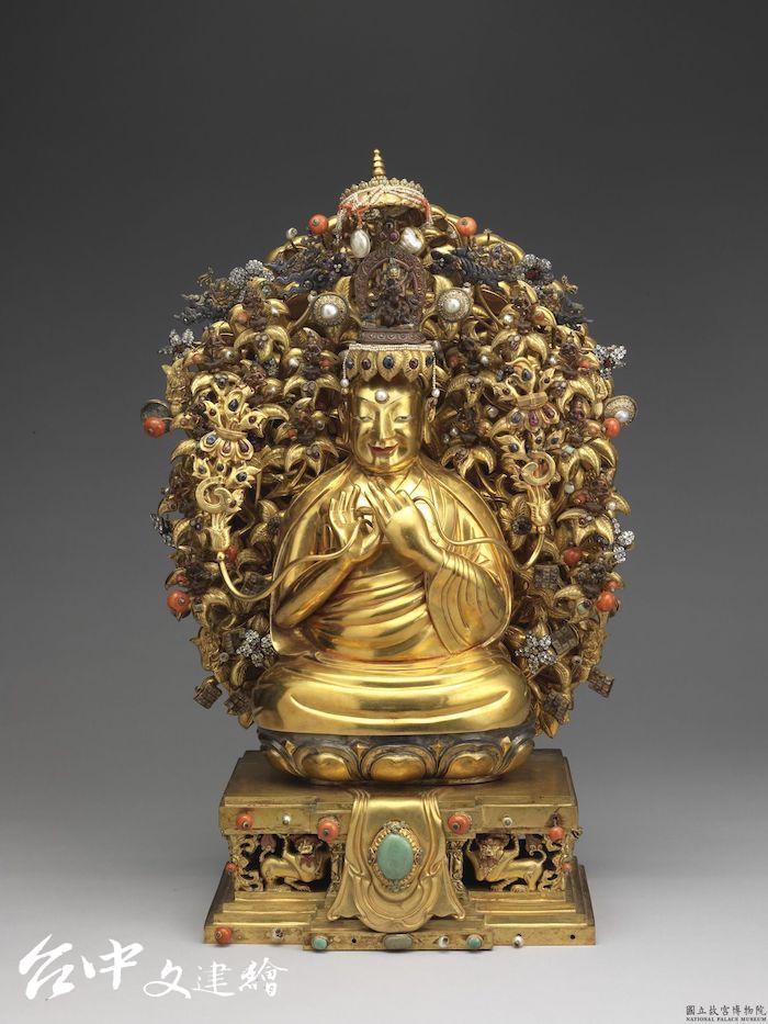 清 金宗喀巴像 (正面) (圖:國立故宮博物院)