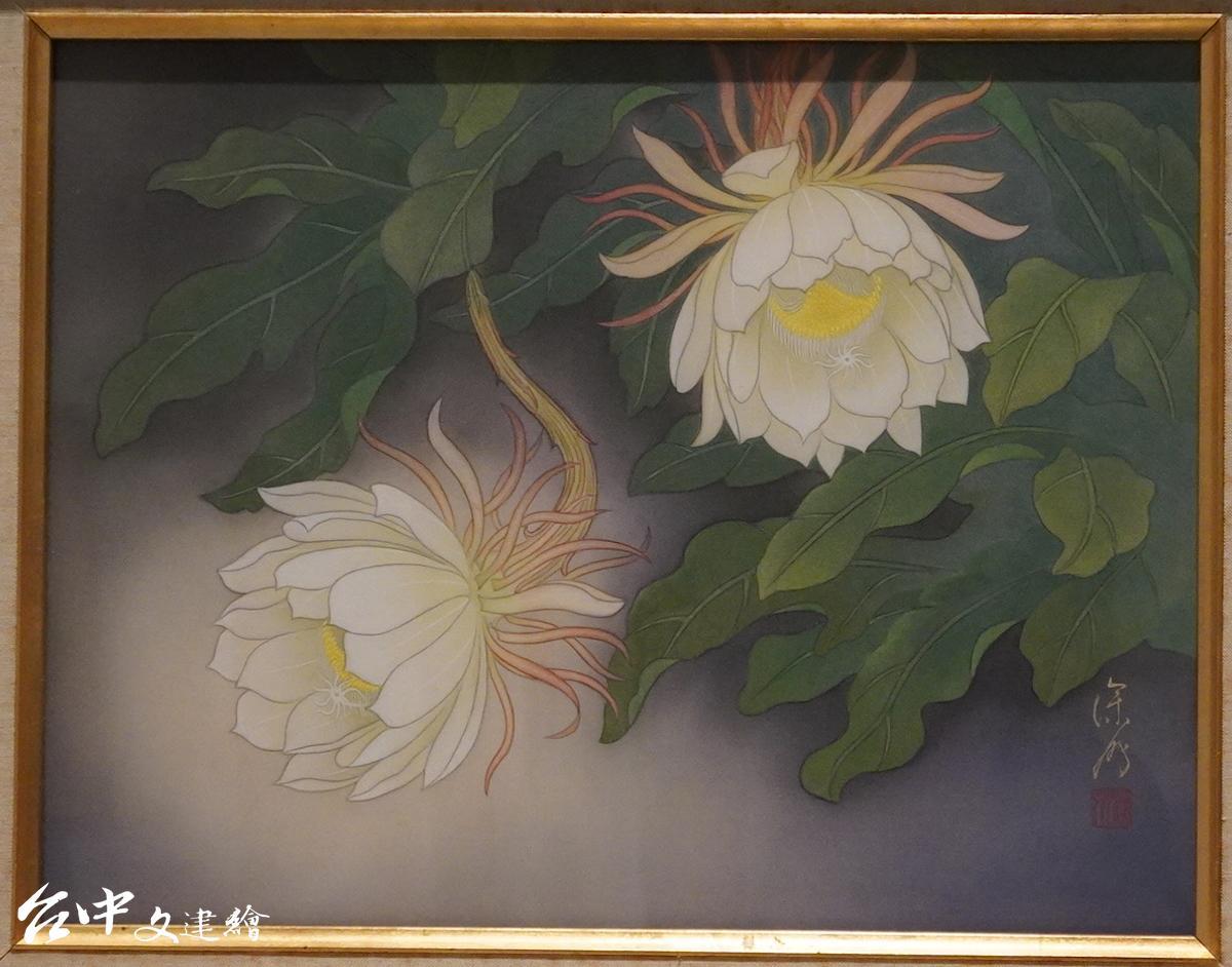 月下美人,許深州,1981,膠彩(翻攝:謝平平)