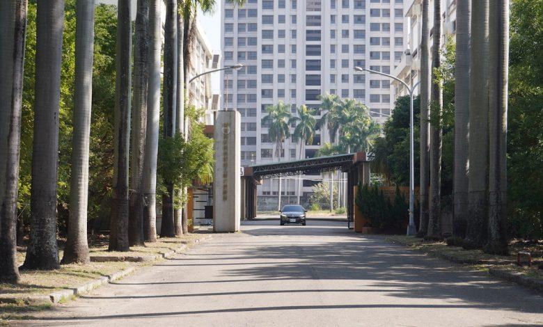 「台中市文化資產資材管理中心」設於大里菸葉再乾燥場中。(攝影:謝平平)