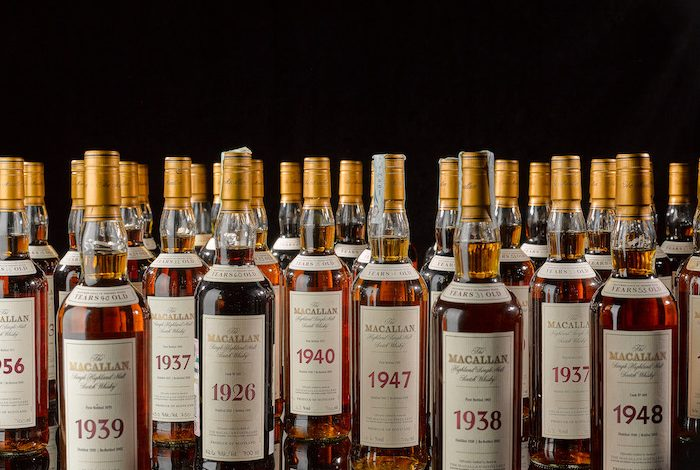 頂級威士忌之麥卡倫(The Macallan )珍稀系列(Fine and Rare Miniature)。(圖:蘇富比提供)