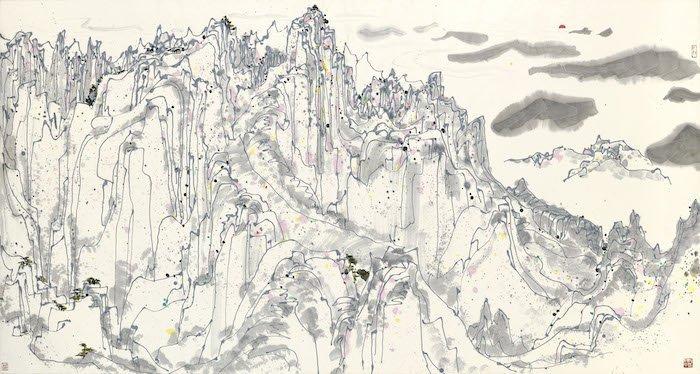 吳冠中《日照群峰》(圖:蘇富比拍賣)