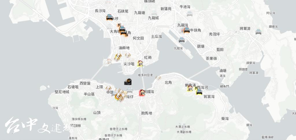 使用 iPhone 的港人倚靠 「hkmap.live」APP,以免遭警察襲擊。(圖片來源:hkmap.live官網)