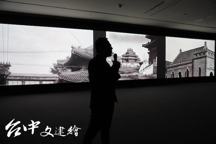 劉窗作品「比特幣挖礦與少數民族田野錄音」。(攝影:謝平平)