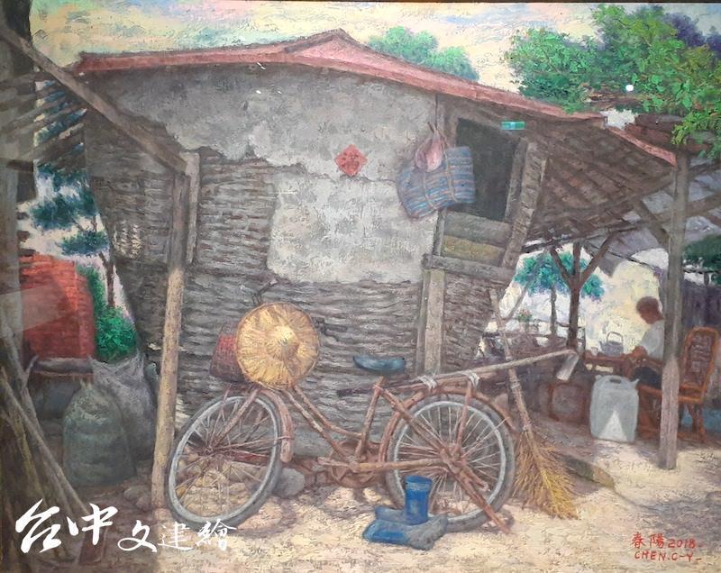陳春陽,〈午後時光〉,30F,2018。(攝影:謝平平)