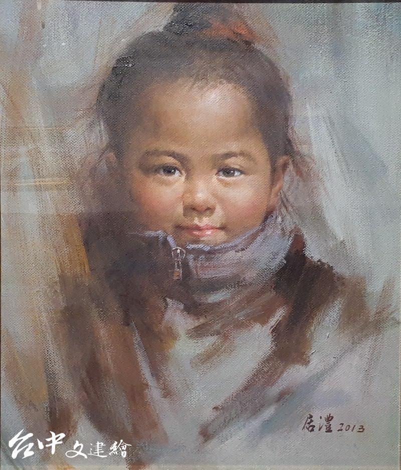 楊居澧,〈塞納河畔〉,10F,2013。(攝影:謝平平)