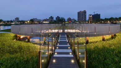 360度生態環湖地景平台夜拍(圖:台中市文化局)
