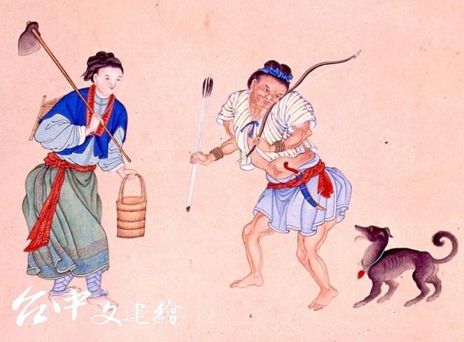清朝・謝遂《職貢圖》內容提到彰化縣(當時台中隸屬彰化縣)熟番的穿著。(圖:公有領域)