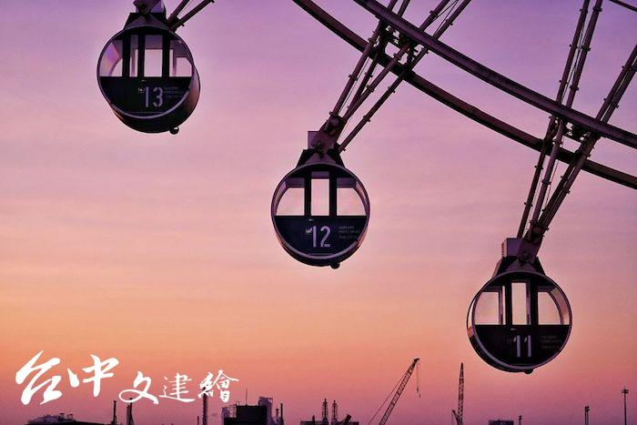 MITSUI OUTLET PARK 台中港店摩天輪。(圖:「Mitsui Outlet Park 台中港」粉專)