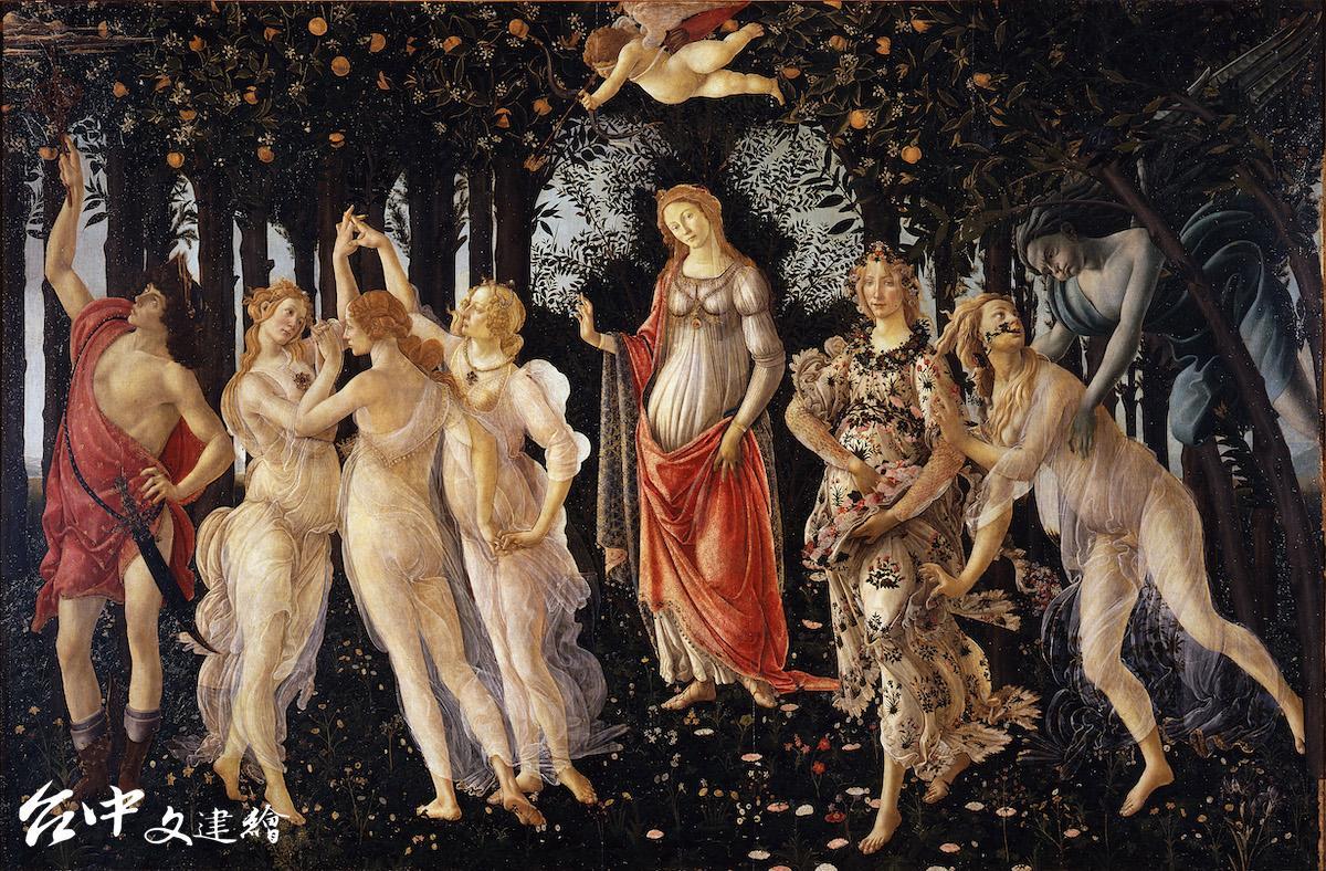 波提且利(Sandro Botticelli)在 37 歲時完成文藝復興的巨作《春》,現藏於義大利佛羅倫斯烏非茲美術館。(圖:公有領域)