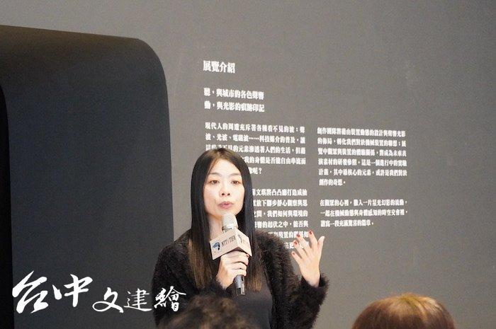 新媒體表演藝術家蘇文琪(攝影:謝平平)