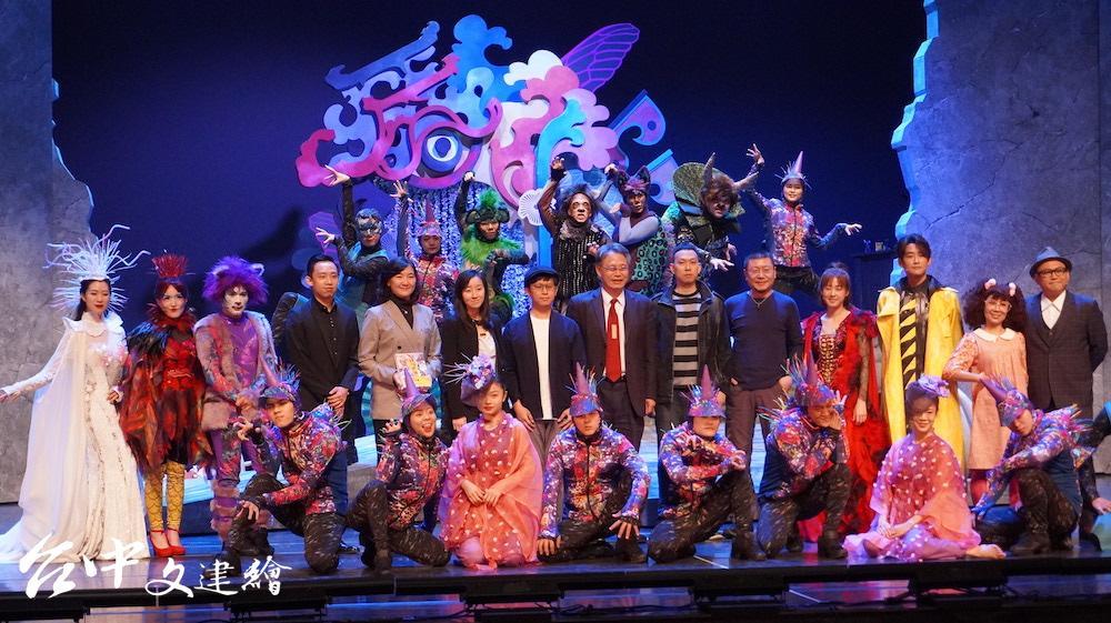 國台交攜手故事工廠,於台中首演音樂劇「妖怪台灣」(攝影:謝平平)