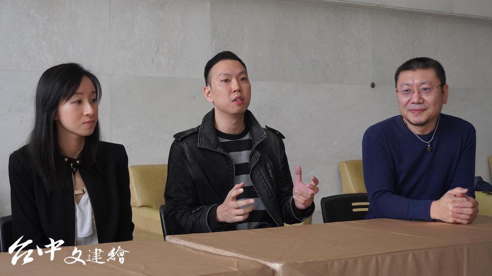 左起作曲張菁珊、編導黃彥霖、故事工廠執行長林佳鋒。(攝影:謝平平)