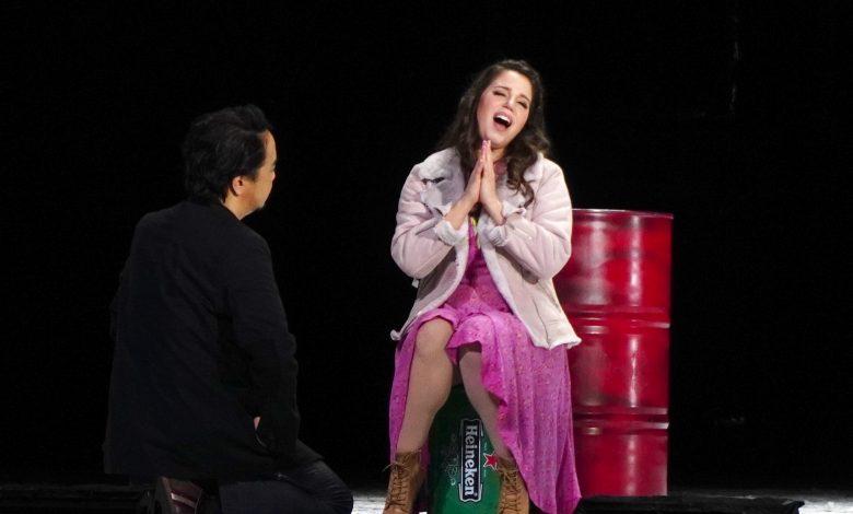 「波希米亞人」彩排,義大利女高音Jessica Nuccio飾演咪咪。(攝影:謝平平)