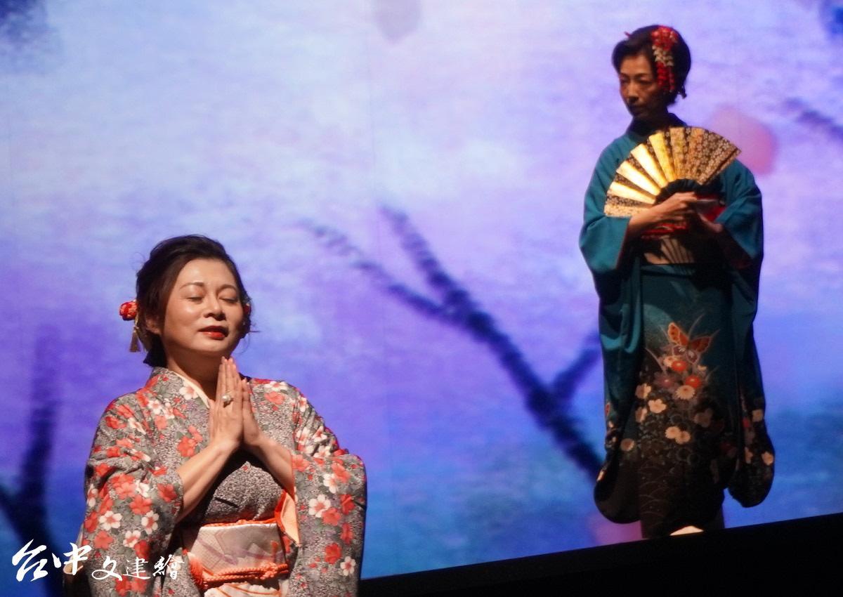 女高音林錦如(前)與日本舞踊林雪玉(後)(圖:台中文建繪)