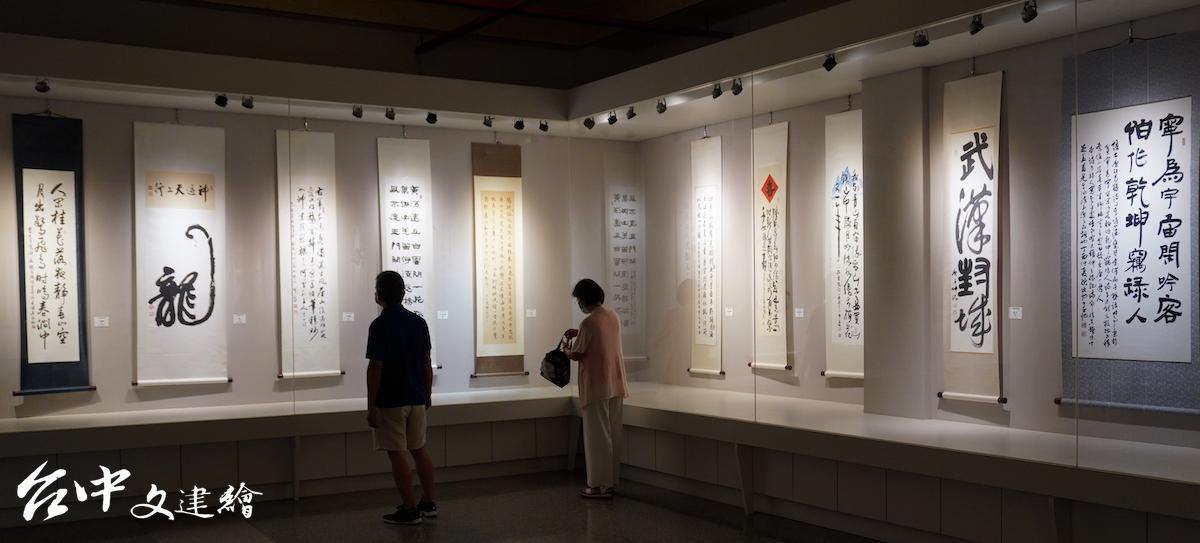 「台灣藝術家協會」會員聯展於台中市港區藝術中心展出至 2021 年 8 月 1 日。(圖:台中文建繪)