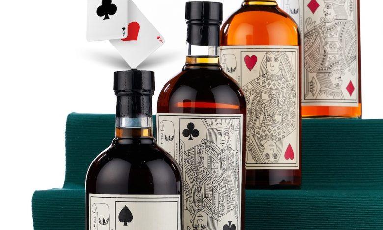難以收藏齊全的「羽生撲克牌系列」威士忌 在「稀有葡萄酒及威士忌」拍賣上,單瓶拍賣。(圖:業者提供)