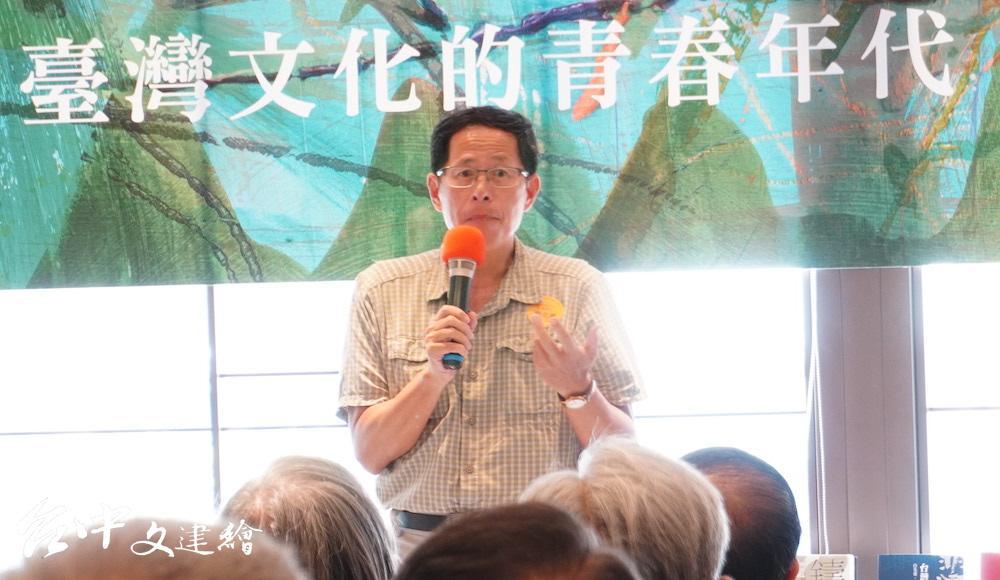 中央社董事長劉克襄。(攝影:謝平平)